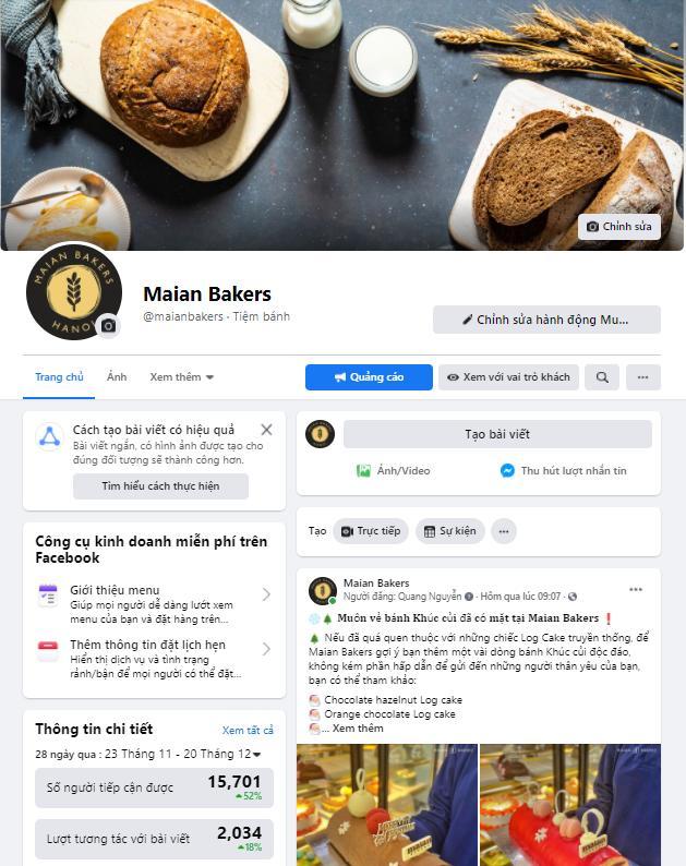 Cửa hàng bánh nổi tiếng tại Hà Nội - Maian Baker