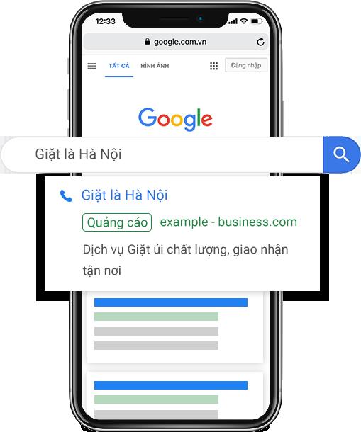 quảng cáo tìm kiếm Google