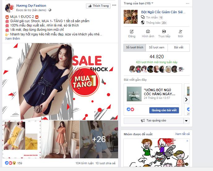 Hình thức quảng cáo tương tác bài viết (Page Post Engagement)
