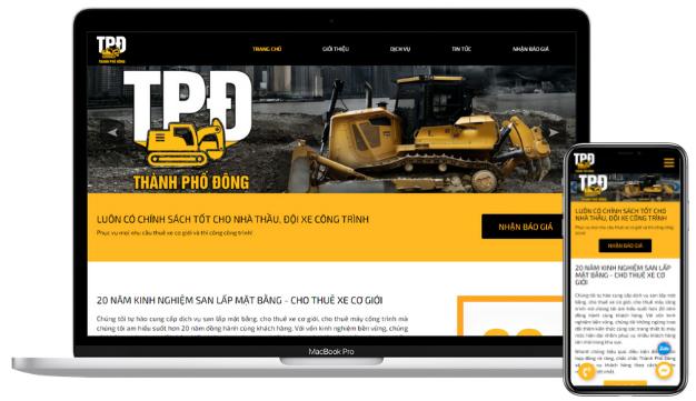 Thiết kế website công ty xây dựng tại quận 9