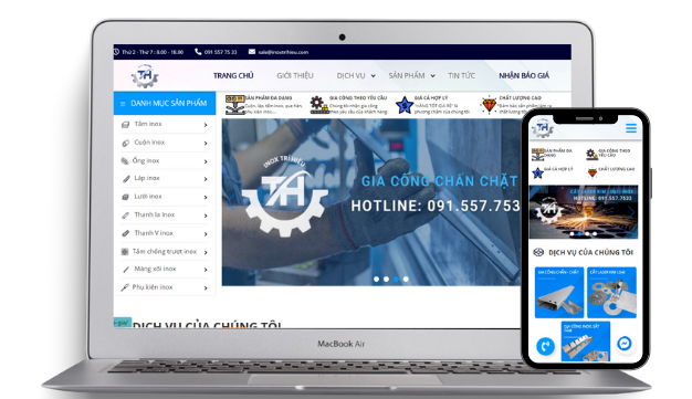 Thiết kế website dịch vụ gia công tại quận 9