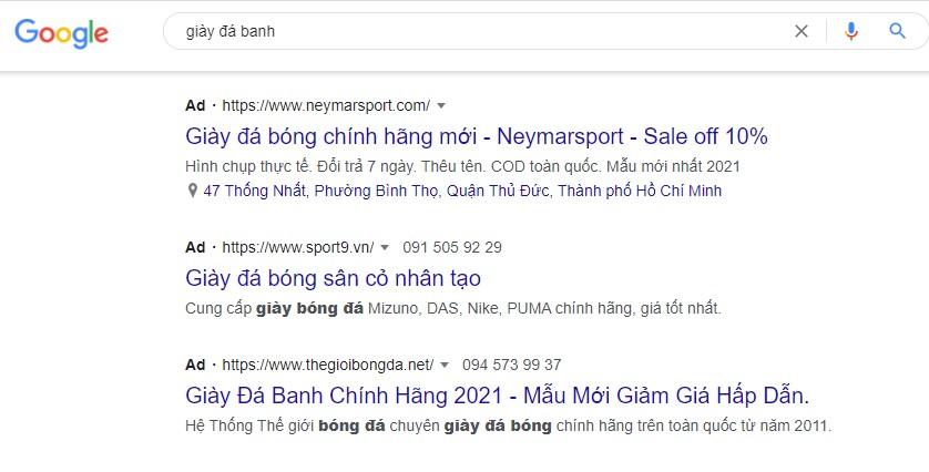 Quảng cáo Tìm kiếm (Google Search)
