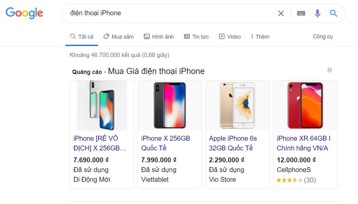 Quảng cáo Mua sắm (Google Shopping)