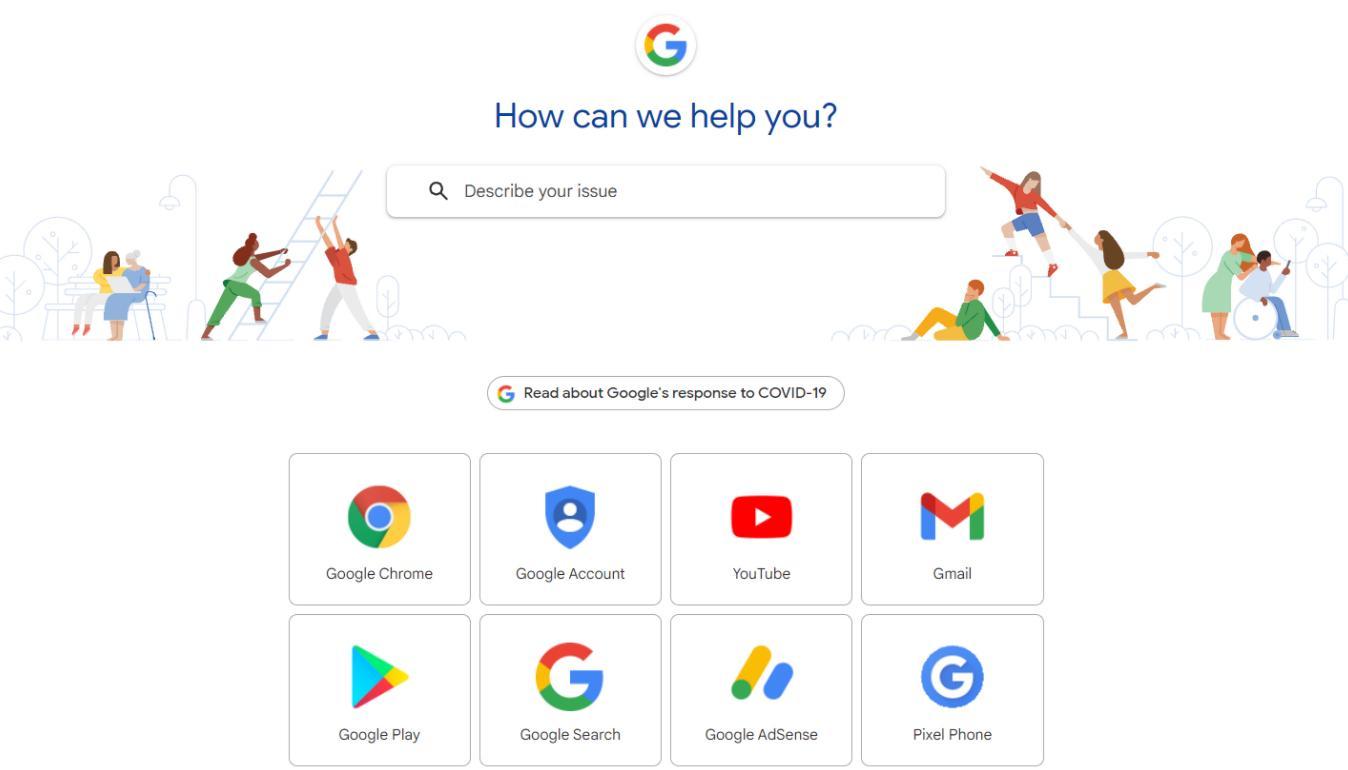 Gửi yêu cầu hỗ trợ cho Google